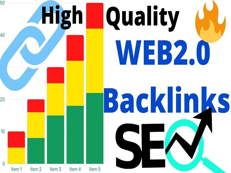 50 WEB2.O High Quality High DA PA site Backlinks
