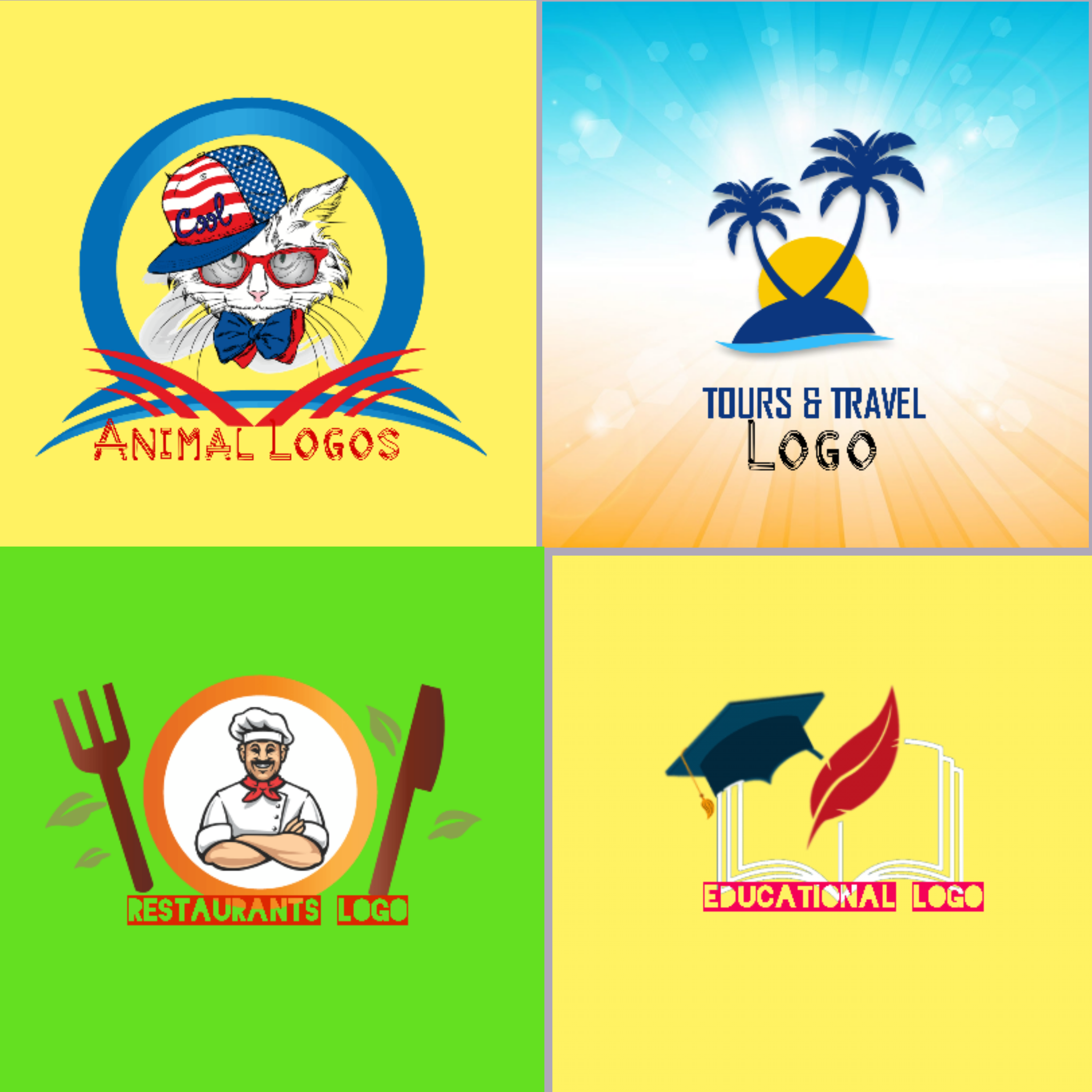 I will make high quality logos for your business with +unlimited revisions+ High Resolution