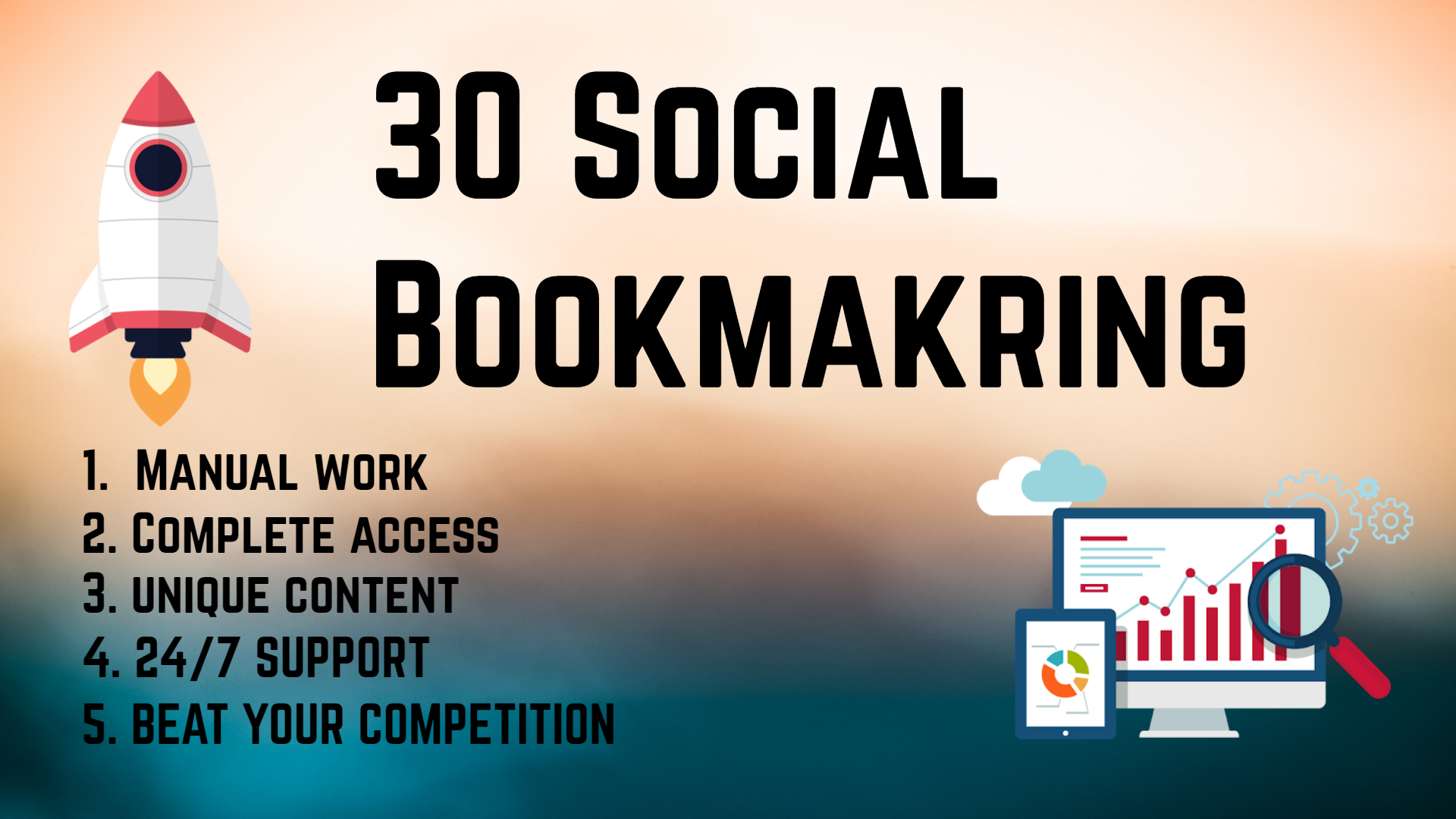 I Will Sumbit High PR 30 Social Bookmarking Backlinks With DOFOLLOW To Improve Rankings
