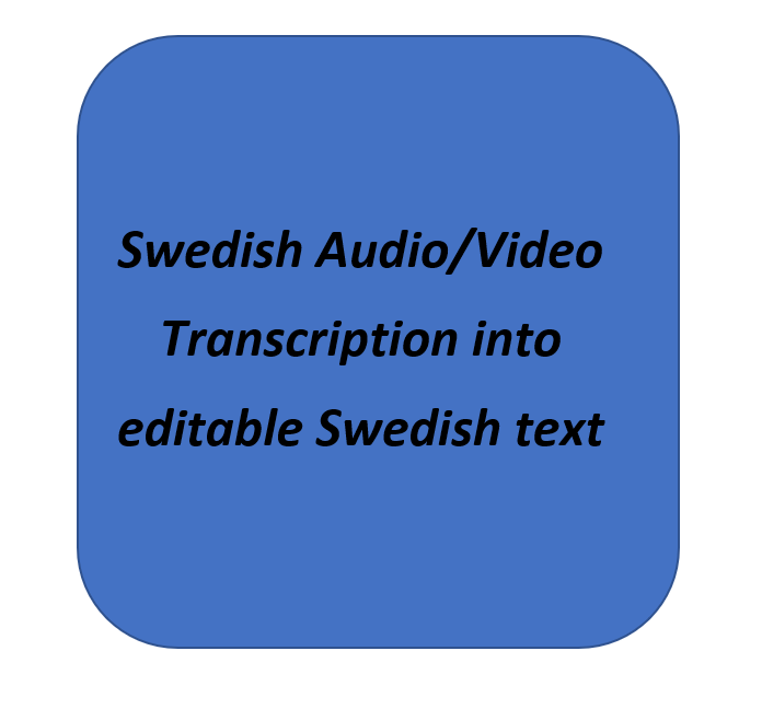 I will transcribe your Swedish audio video files into editable Swedish text