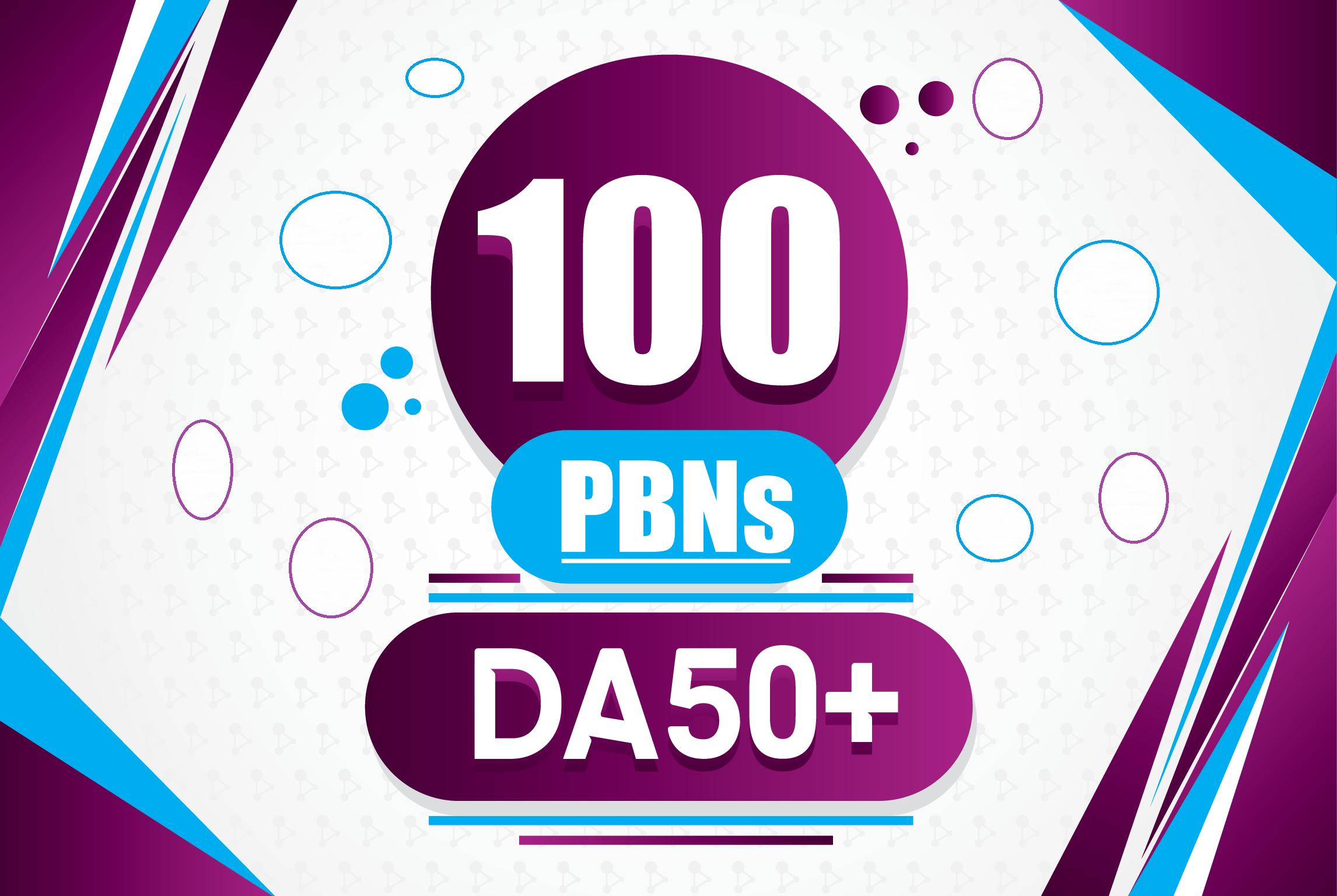 Provide Guaranteed 100 DA50+To70 Homepage PBNs Backlinks to Rank 1st