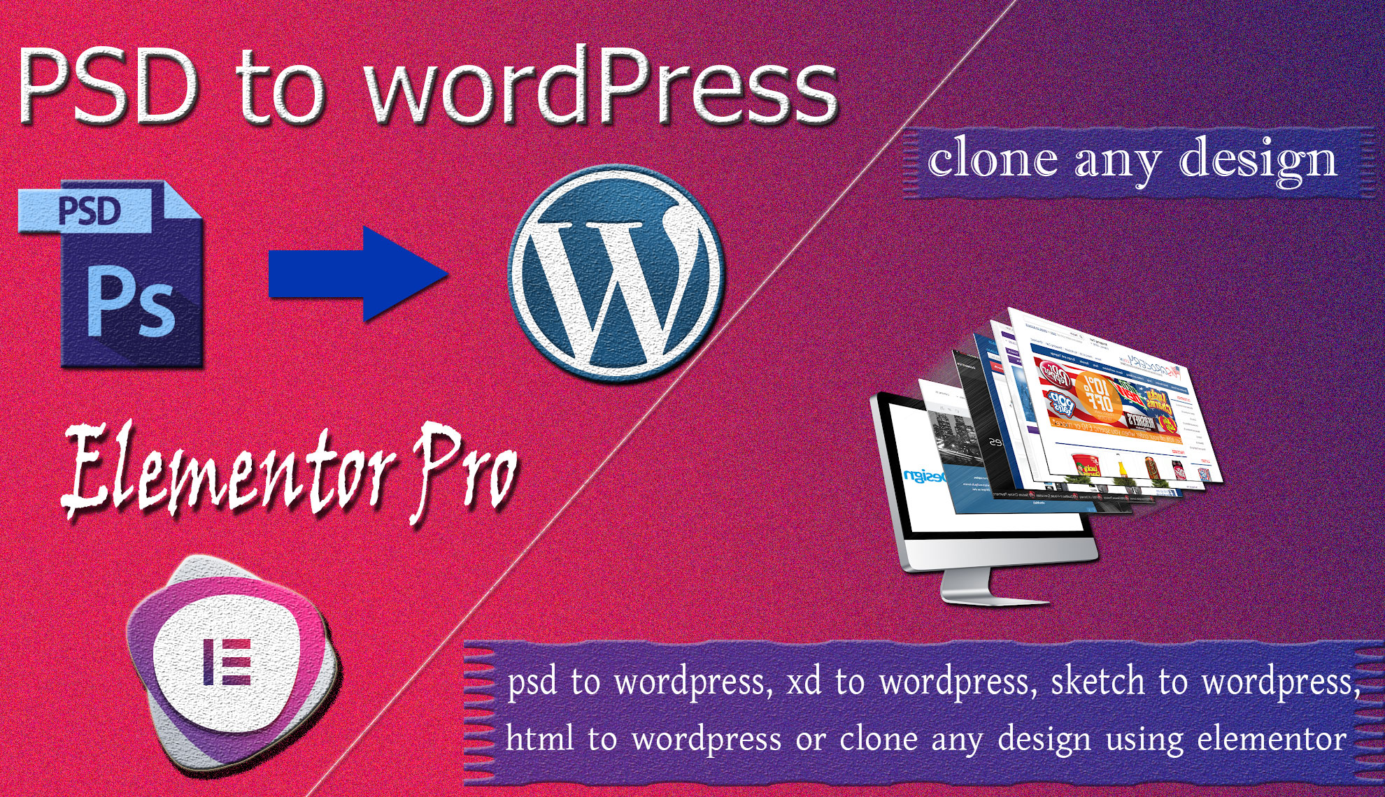 I will convert psd to wordpress or any landing page responsive website using elementor pro