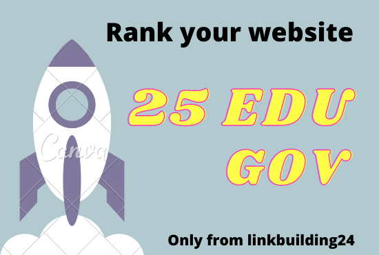 I will provide powerful 25 Edu/Gov service 60+Domain authority