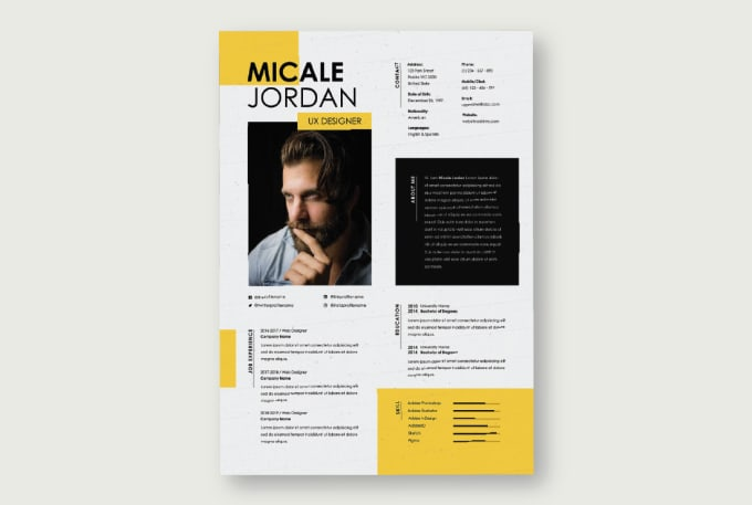 I will design a professional infographic resume CV design under 24h