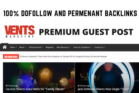 Guest Post on Ventsmagazine. com dofollow backlinks
