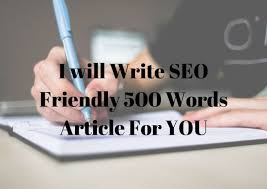 I will Write 500words optimized article for your blog