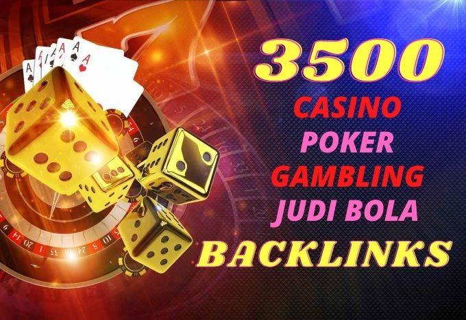 Build Manually 3500 Casino, Gambling, Poker, Judi Bola PBN backlinks