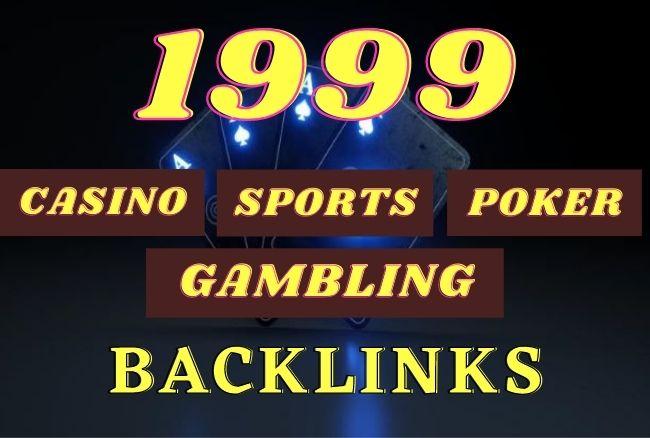 1999 Unique Domain CASINO,  GAMBLING,  POKER PBN Backlinks