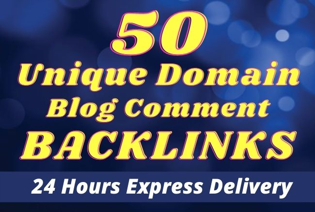 I will create 50 Unique Domain blog comments backlinks