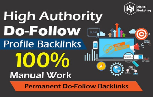 I will do 100 high quality DA do-follow profile backlinks