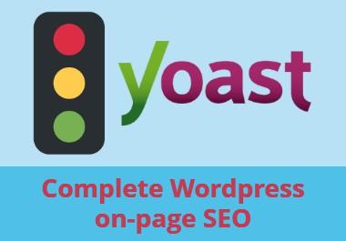 On page optimization with yoast seo