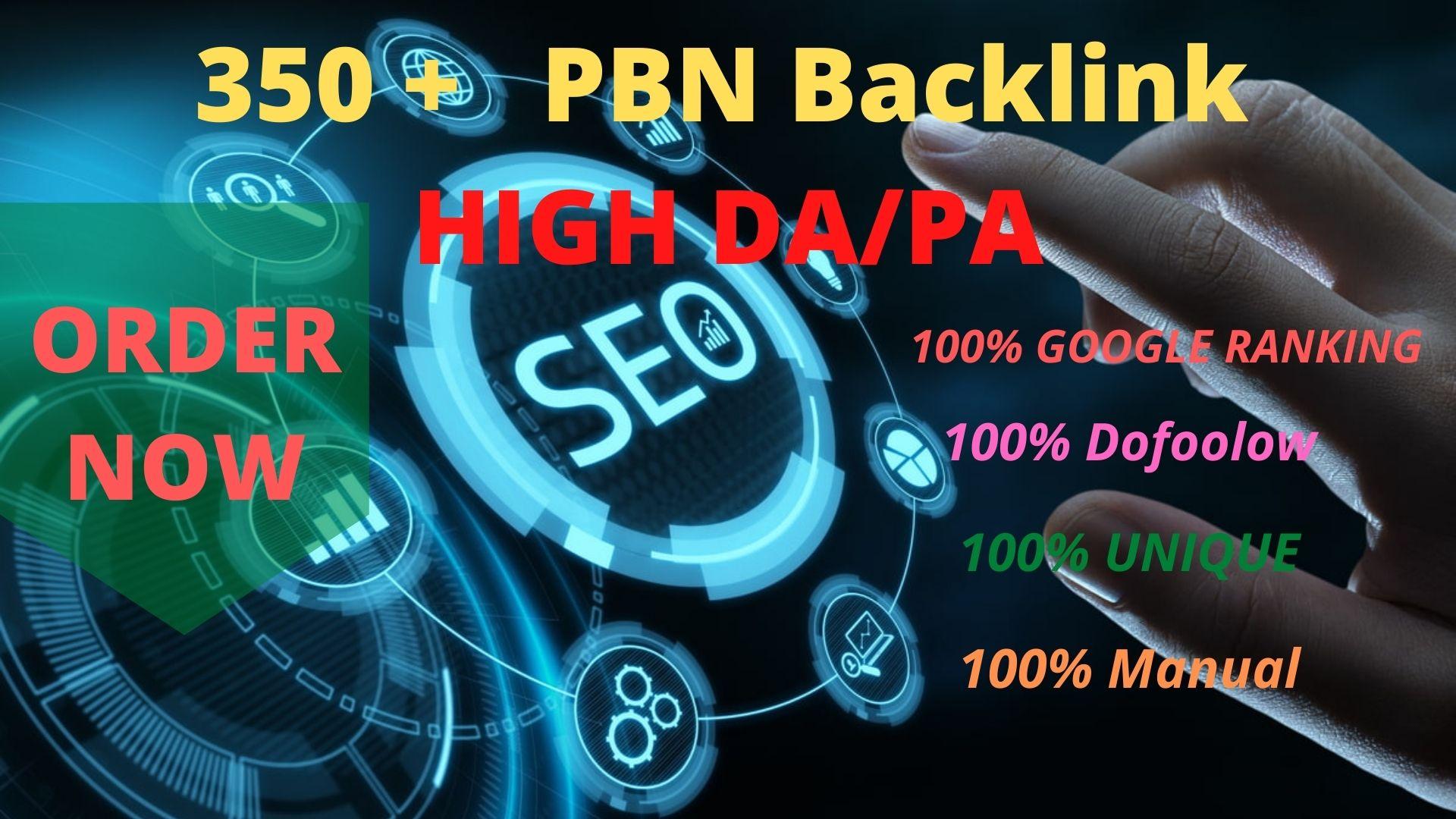 GET 350+ High PBN Backlink Rank your Google site.