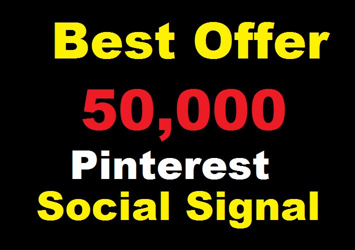 Best offer 50,000 Pinterest social signals Share manually Service HQ SEO Backlink Boost Google Rank