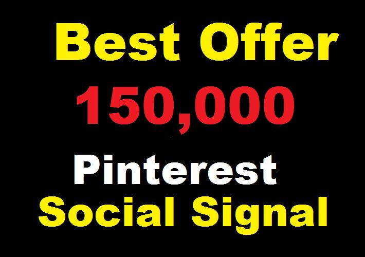 Best offer 150,000 Pinterest social signals Share manually Service HQ SEO Backlink Boost Google Rank