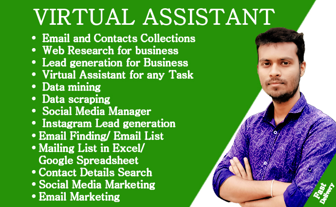 I can support your virtual assistant for data entry,  data mining,  Website Scraping,  Email Scraping