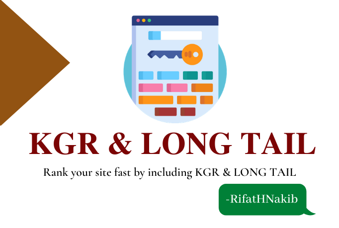 I will provide kgr keyword and long tail seo keyword research to rank fast.