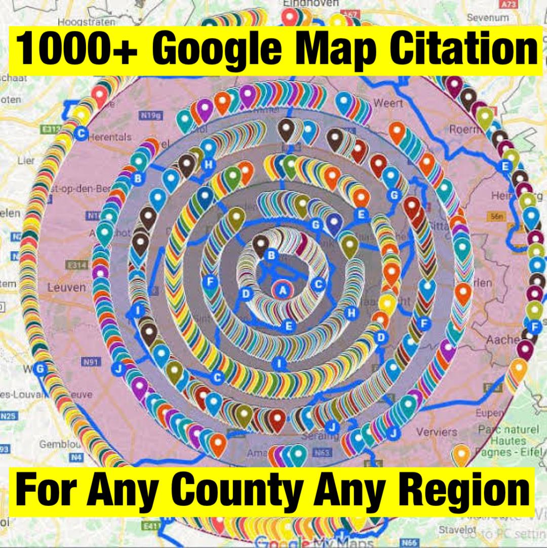 DO 1000+ google maps citations for your business