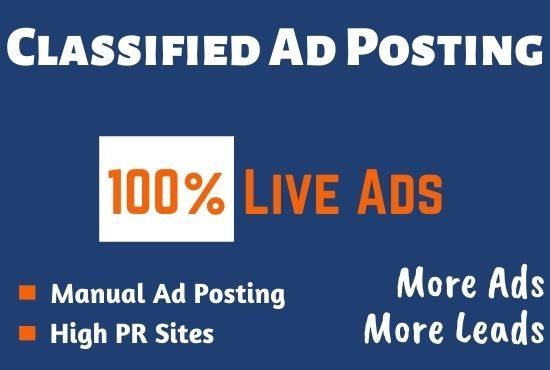 Submit 50+ Classified AD Posting Worldwide