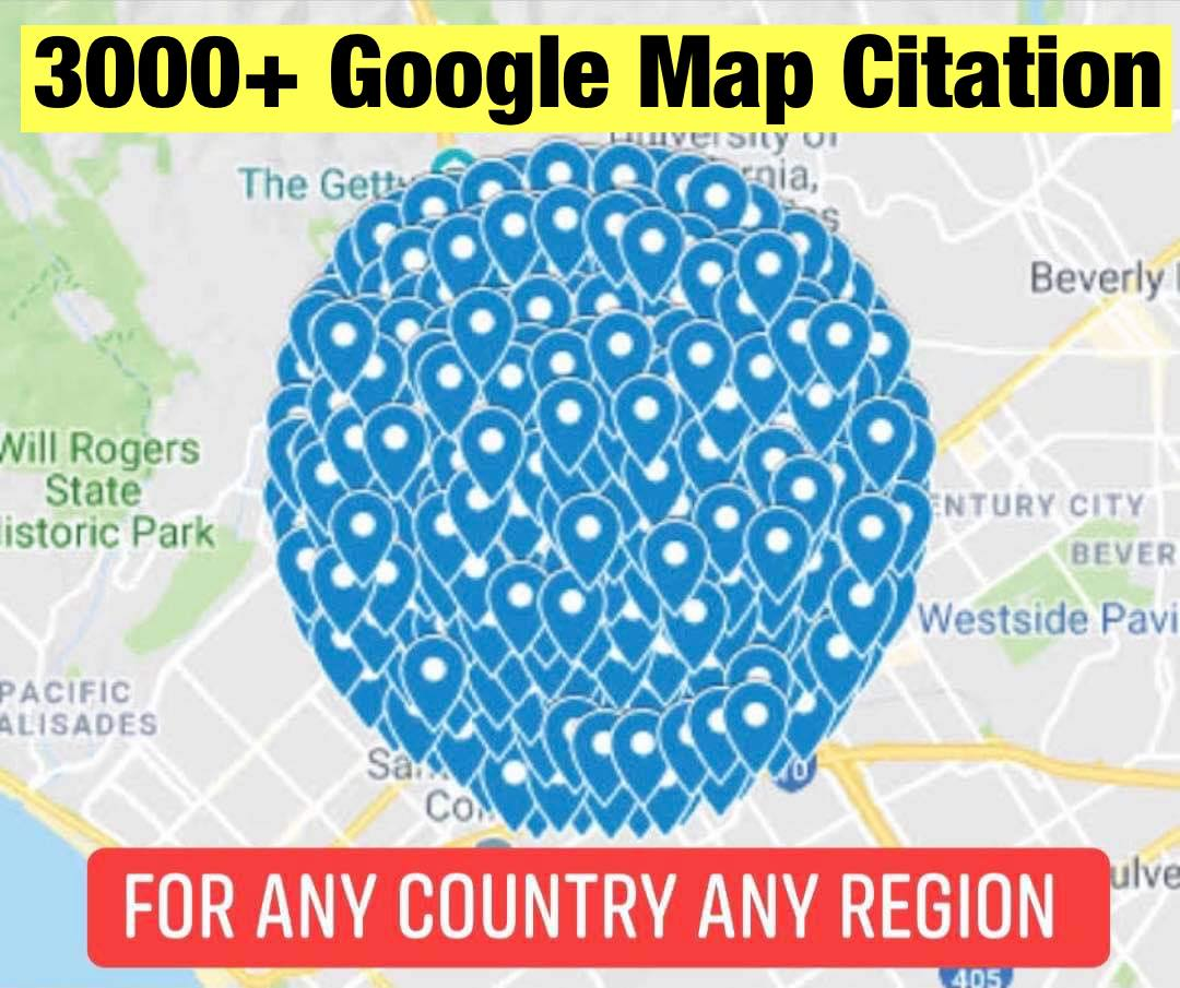 Create 3,000+google map citation and GMB for Local Seo