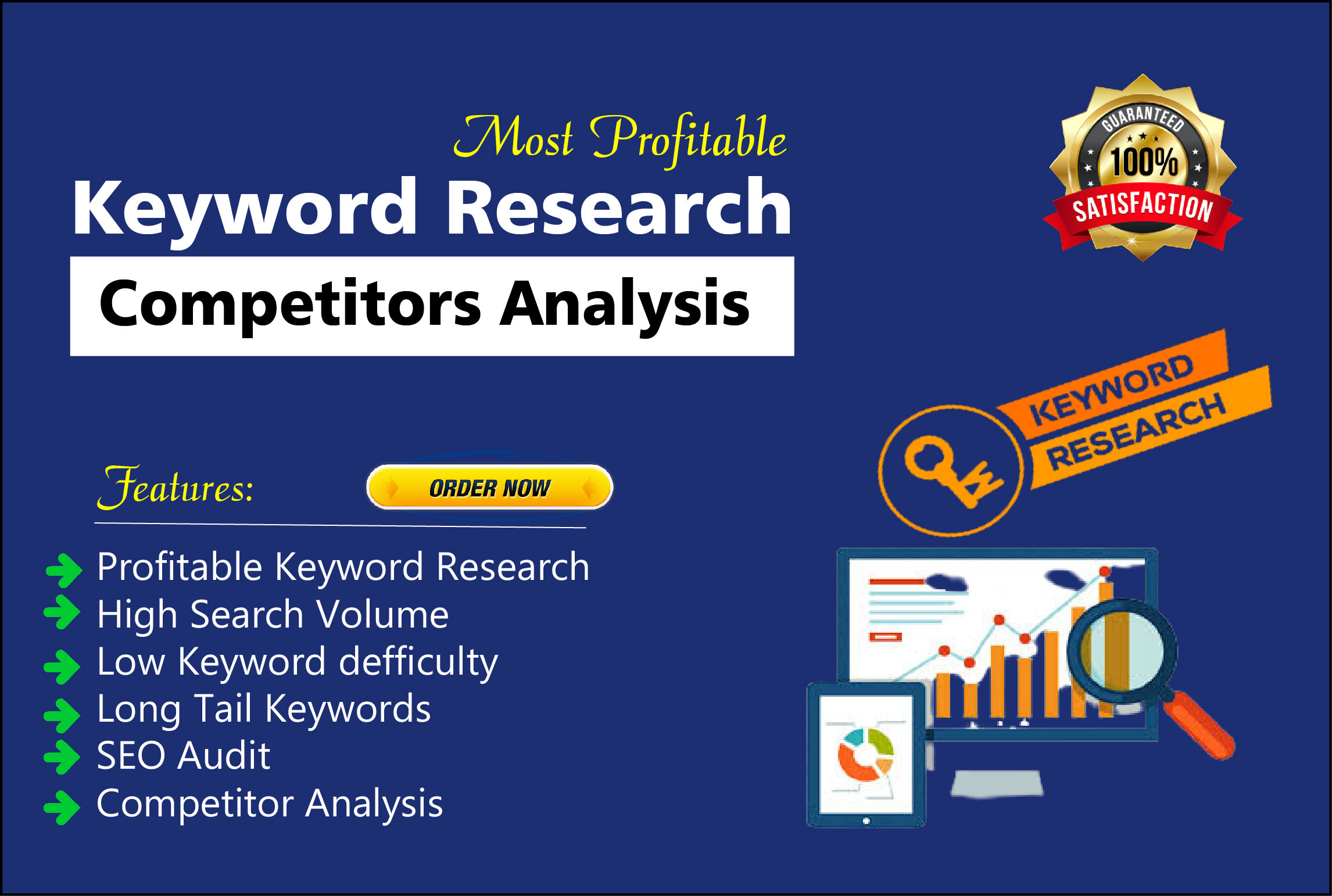 Seo Friendly Keywords research & competitors analysis