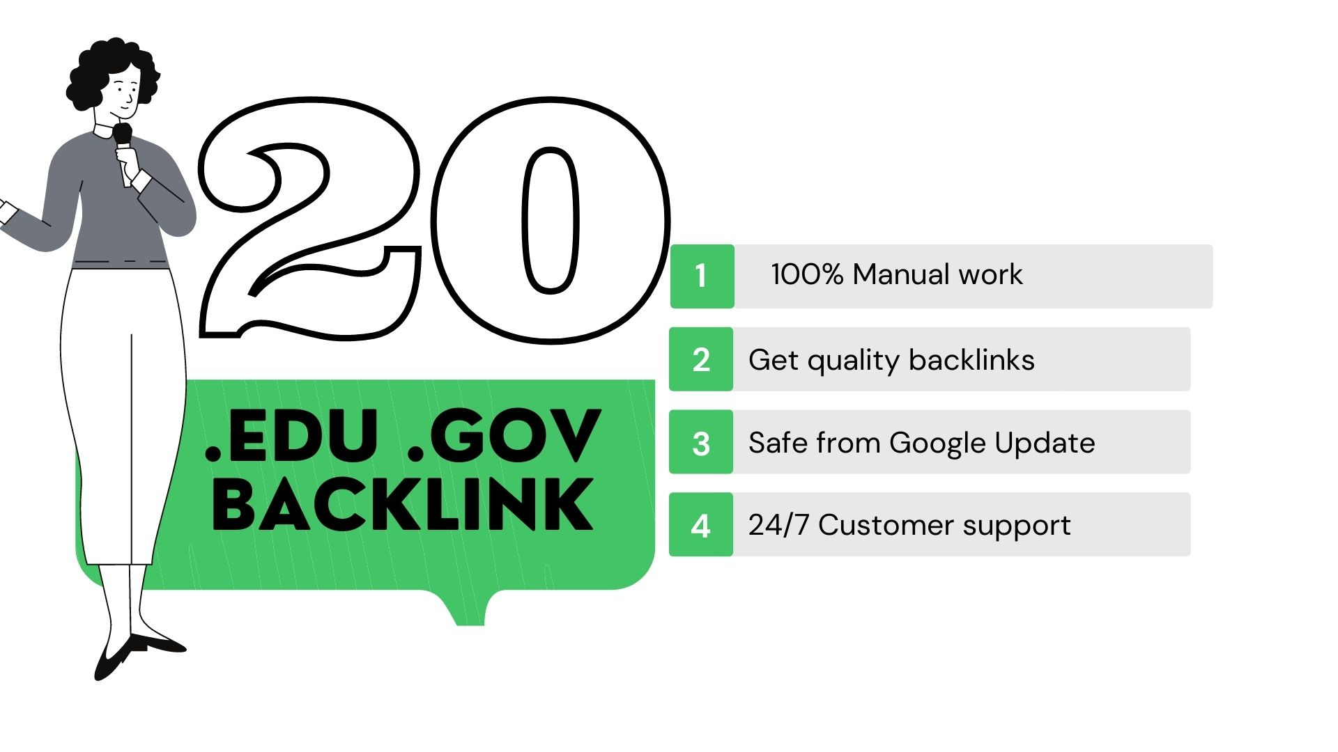 create premium quality 20 edu gov backlinks