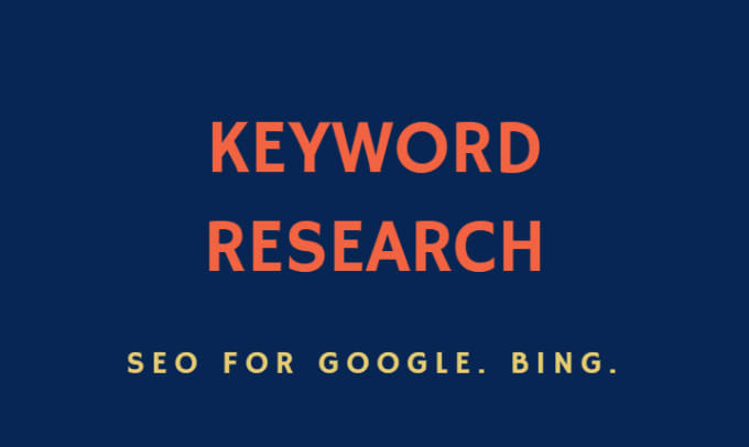 I will do a competitive keyword research for SEO