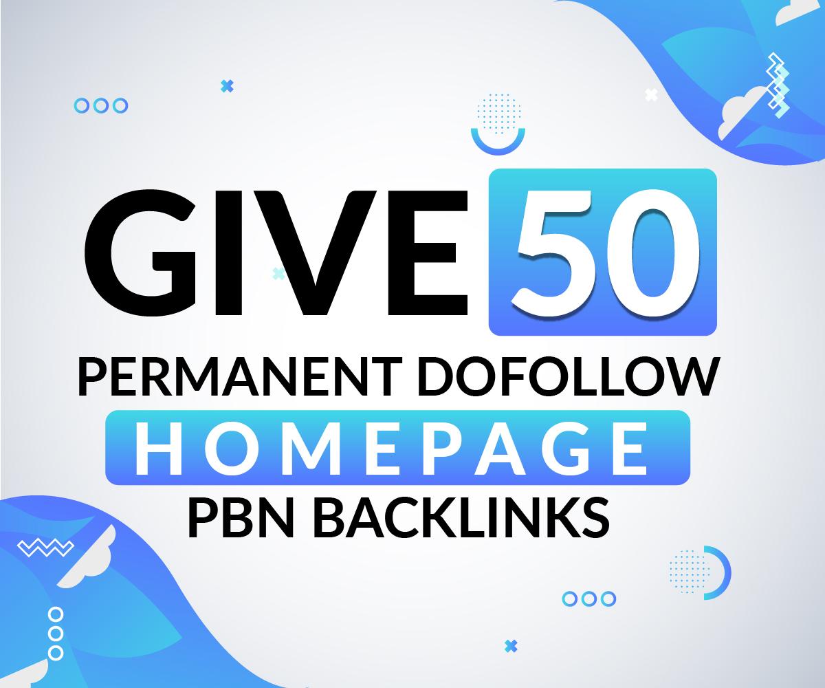 Give 50 Permanent dofollow Pbn Backlinks high DA da links