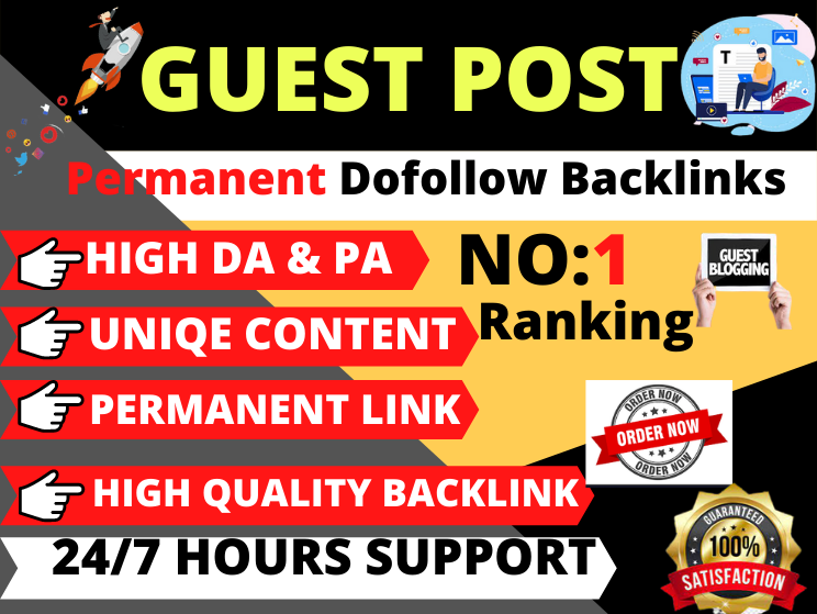 10 Guest Post Do follow High authority website unique content boost your website and manually work