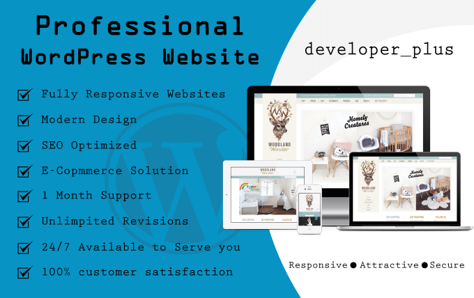 I will design professional and responsive wordpress website