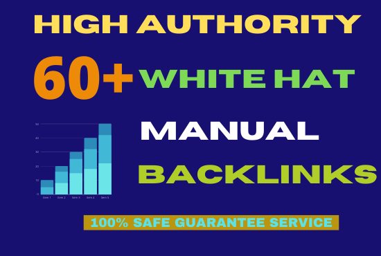 I will 60 SEO backlinks white hat manual link building service for google top ranking