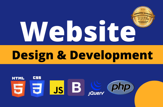 I will design and develop a custom responsive website in html,  css,  javascript, jquery and bootsrap