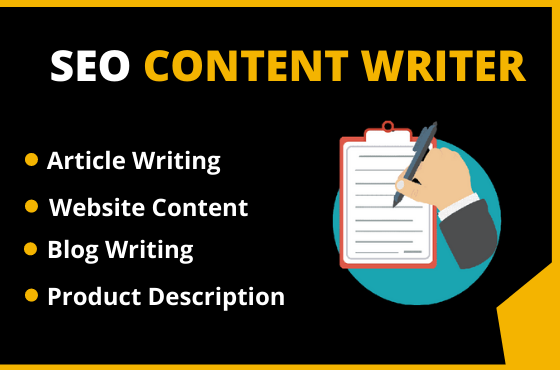 I will write SEO article writing,  website content,  or blog writing 1000W