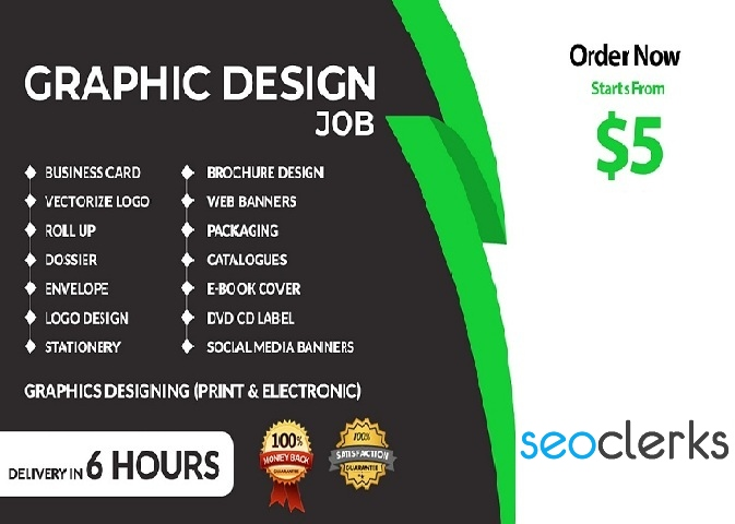 I will create modern and beautiful graphic designing solution