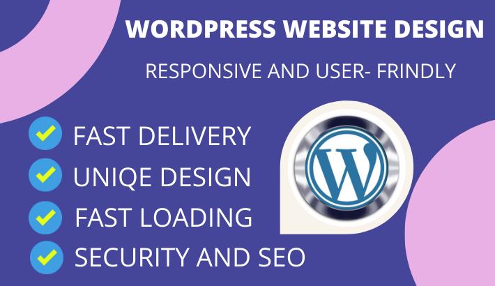 I will design modern professional and responsive wordpress website