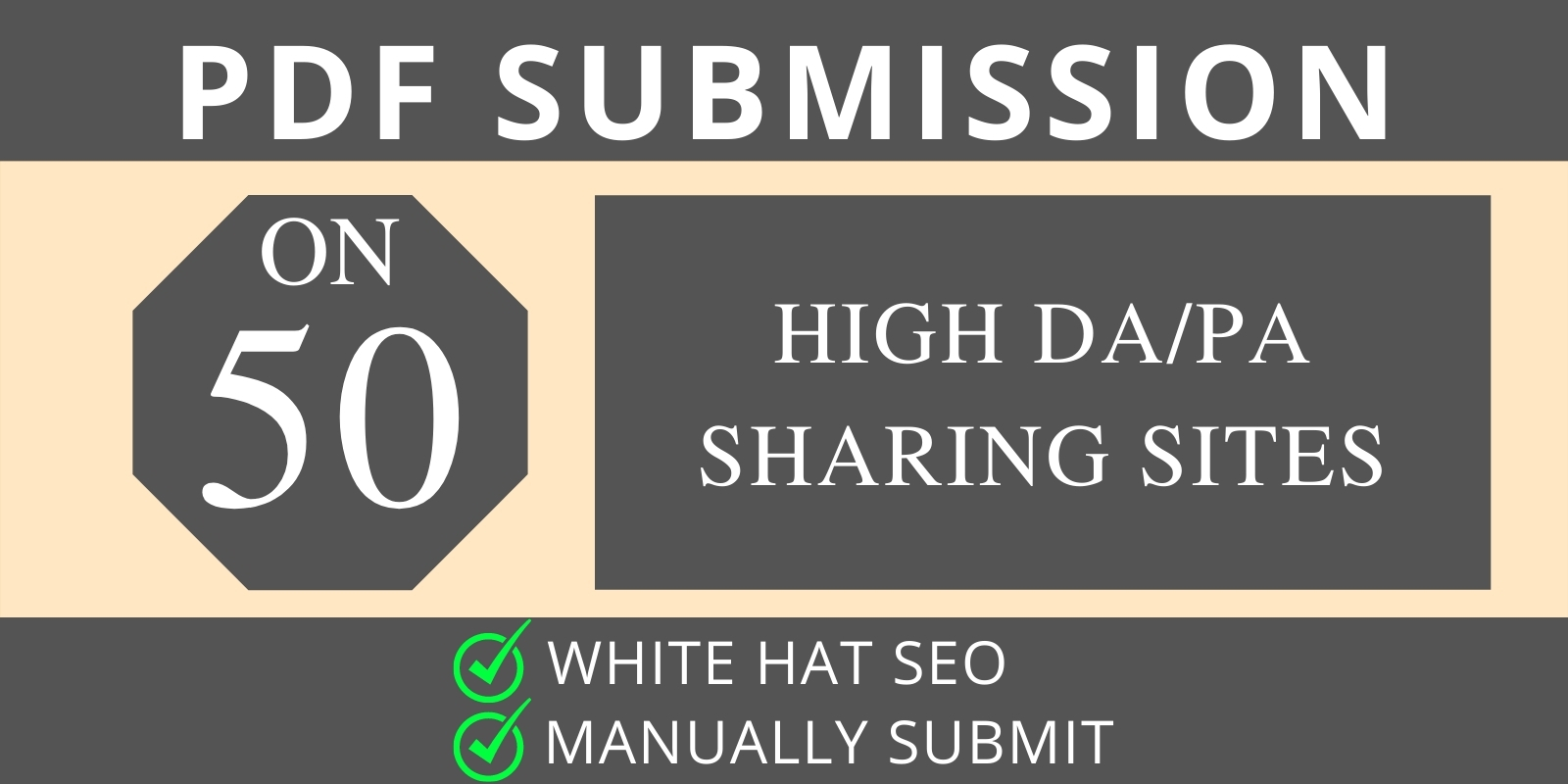 I will do manual PDF submission on top 50 document sharing sites