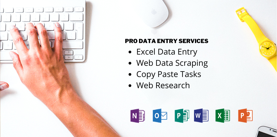 Provide superb excel data entry,  web research,  data entry,  copy paste,  virtual assistant