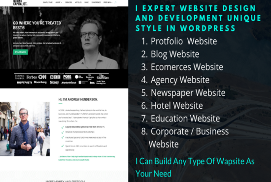 I will Create Any type of website using WordPress