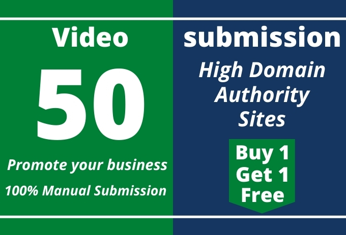I will do manual video submission & upload on top 50 video sharing sites