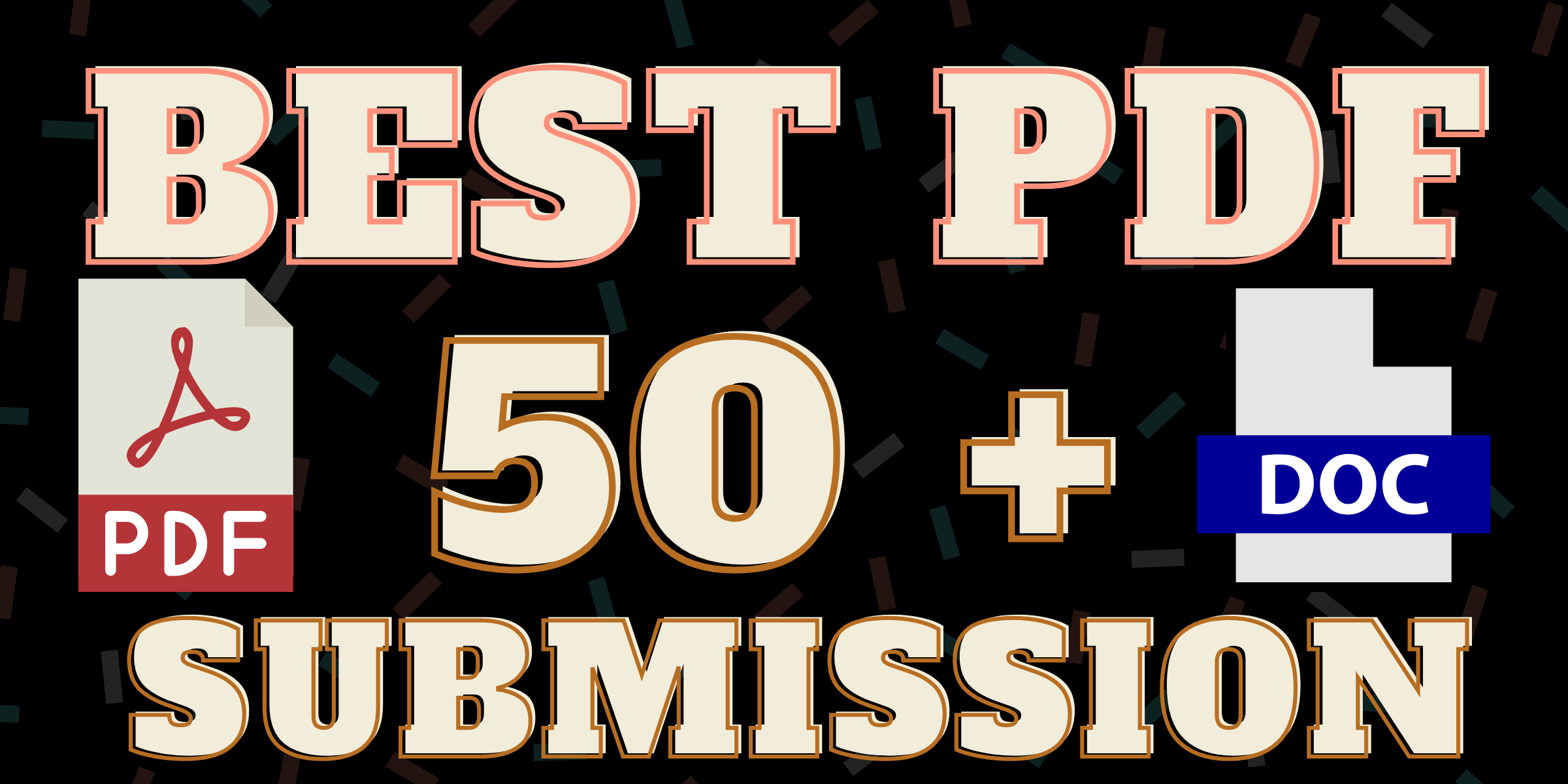I will do PDF submission on High DA/PA 50 Documents sharing sites