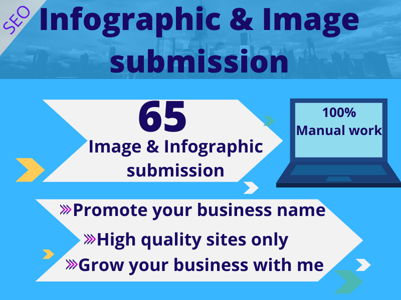 I will do infographic or image submission and high DA/PA image sate