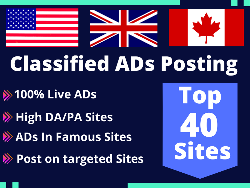 I will Do Classified Ads Posting Manually in USA