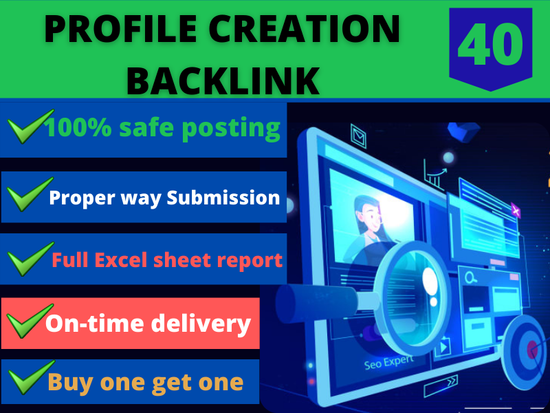 I will provide 40 high quality profile backlinks for you