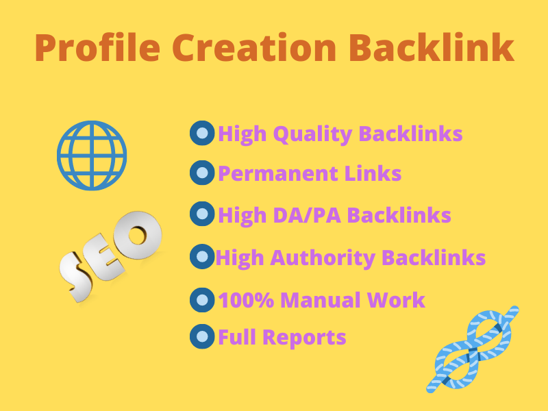 I will create 50 HQ social profile creation backlinks