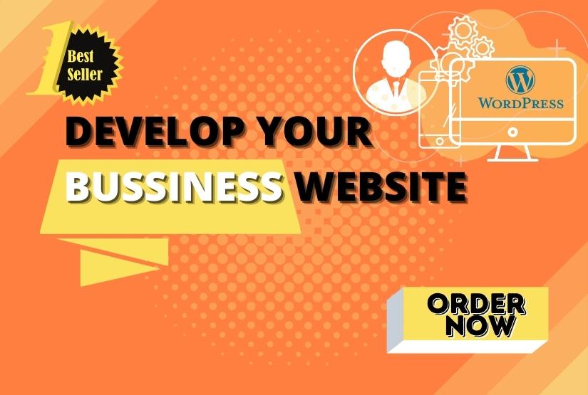 I will design and create business WordPress website