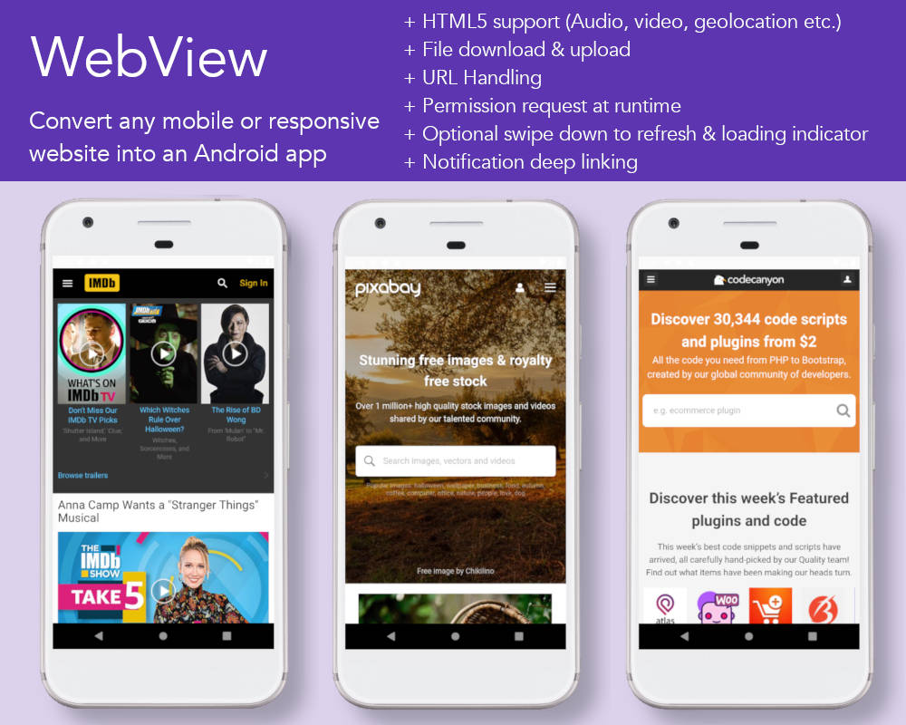 Convert Website,  Blog, WordPress E-commence Site,  YouTube Chanel,  Facebook Page To Android App