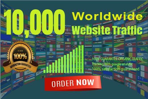I will drive 10,000+ Worldwide Web Traffic