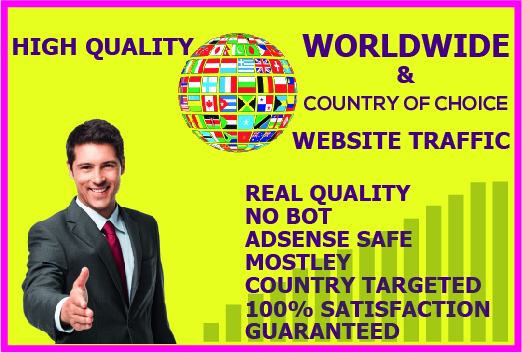 I will drive 10,000+ Worldwide & Country of Choice Web Traffic