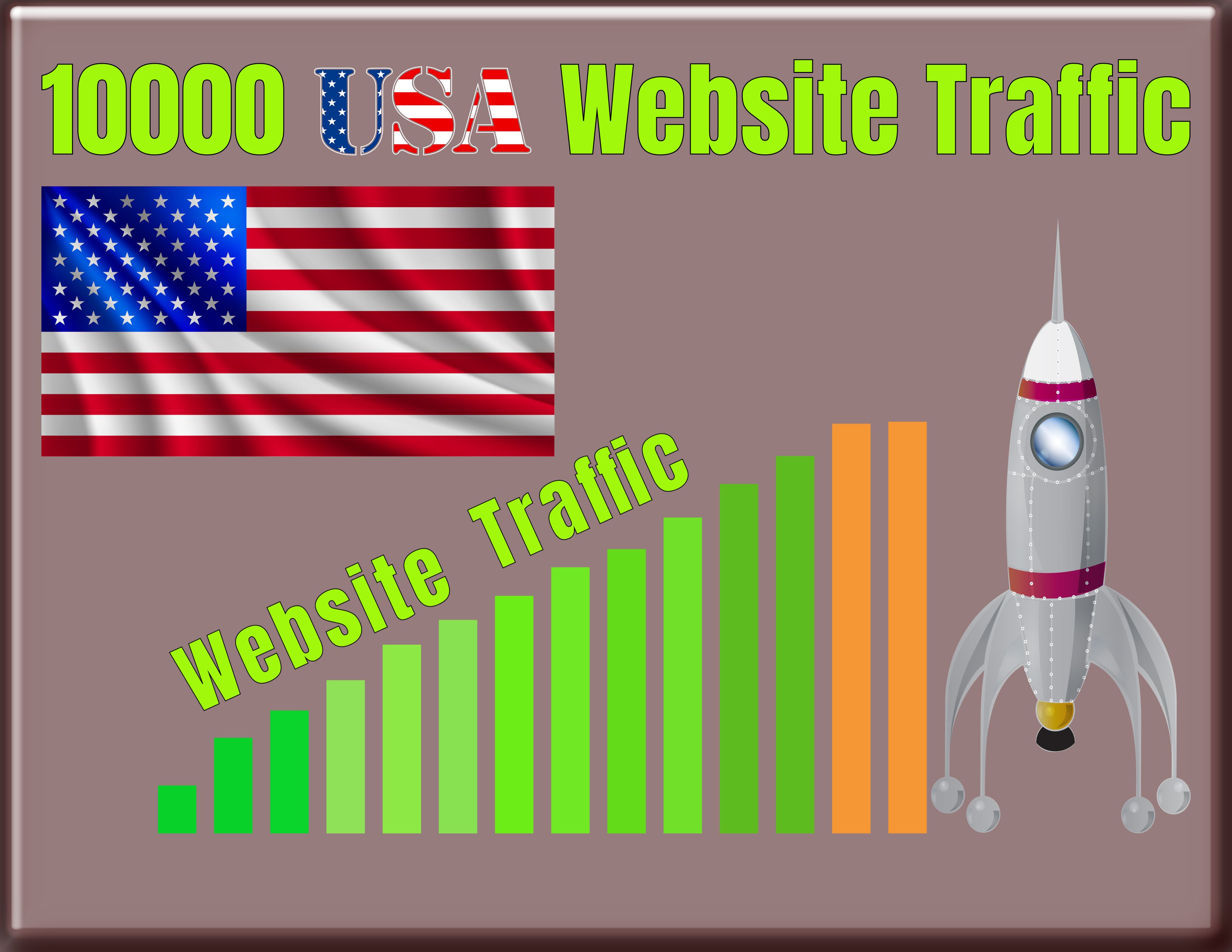 I will send 10,000 USA targeted website traffic, real organic visitors