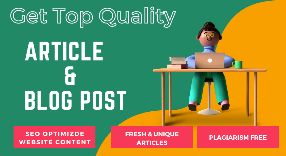 I will write unique SEO optimized articles and blogs