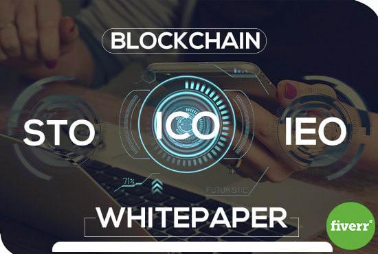 I will write investment winning ico white paper